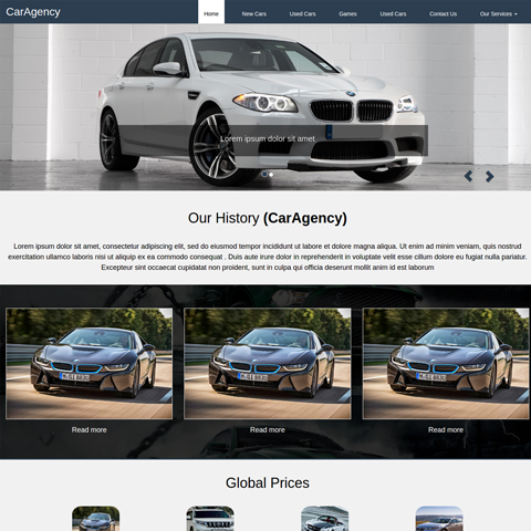 Car agency site
